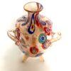 Fantastico vaso di Murano vetro leggermente acidato e lavorato con foglia d'oro, vaso fatto a mano.
