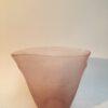 Fantastico vaso di Murano vetro acidato e sabbiato esternamente, vaso fatto a mano.