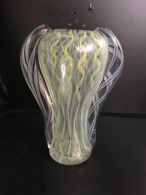 Fantastico vaso di Murano; vaso fatto a mano.